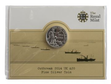 £20 2014 Outbreak Brilliant Uncirculated Pack